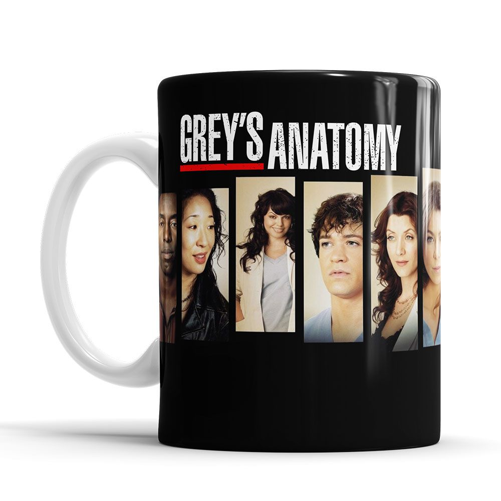 Caneca Grey´s Anatomy Personagens