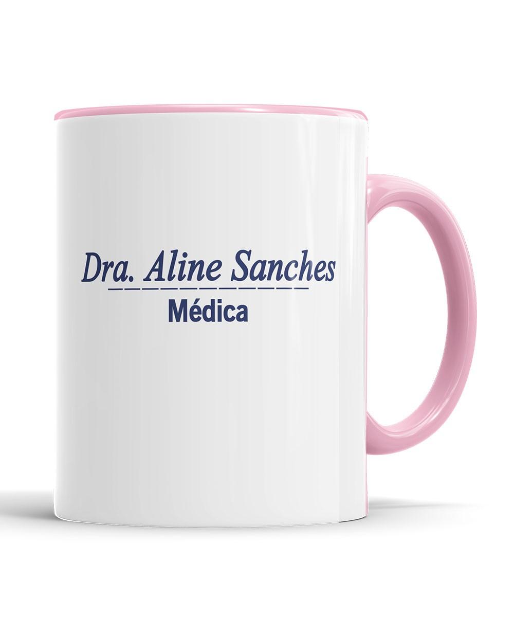 Caneca Jaleco Medicina com Nome + saquinho