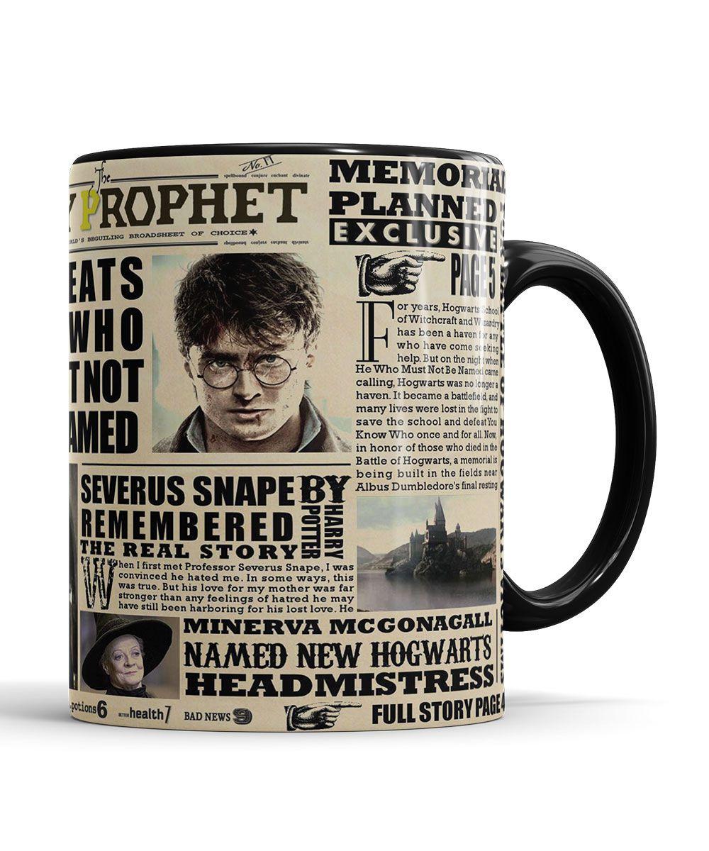 Caneca Jornal O Profeta Diario Harry Potter