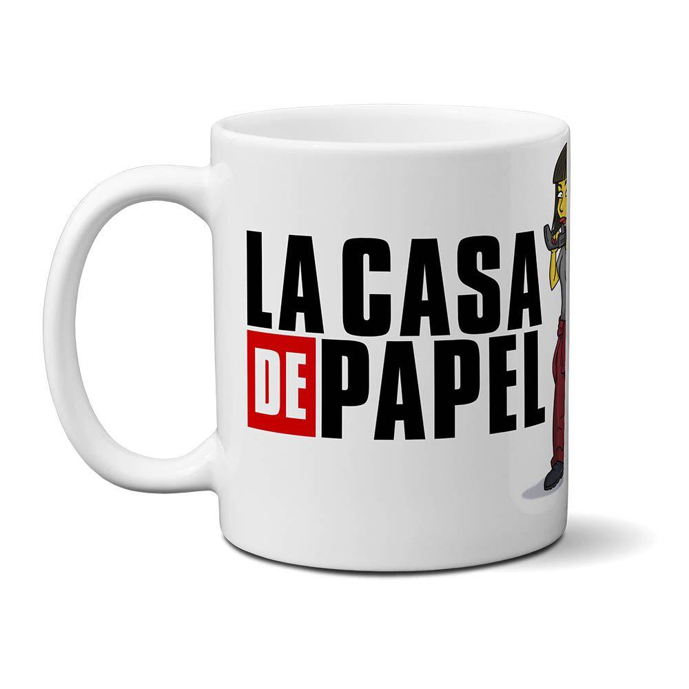 Caneca La Casa De Papel (branco) - Netflix