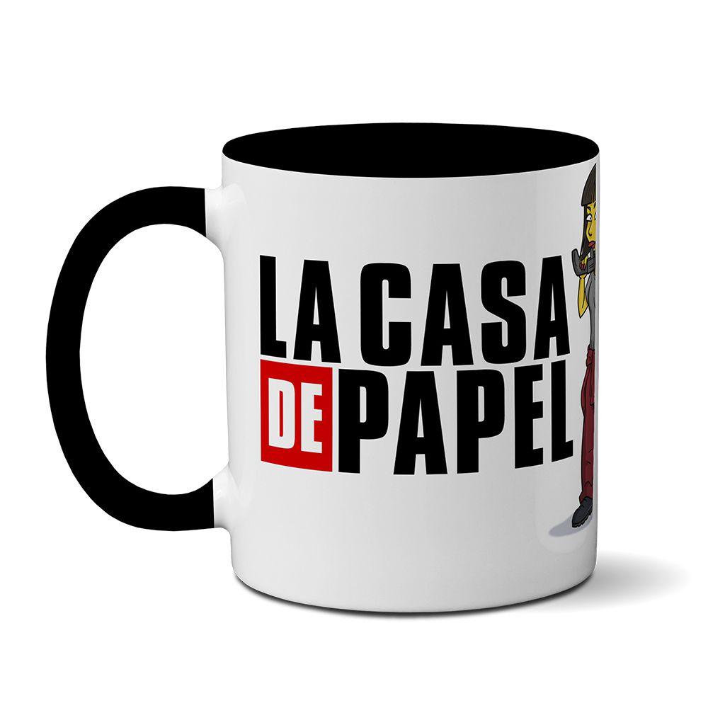 Caneca La Casa De Papel (preto) - Netflix