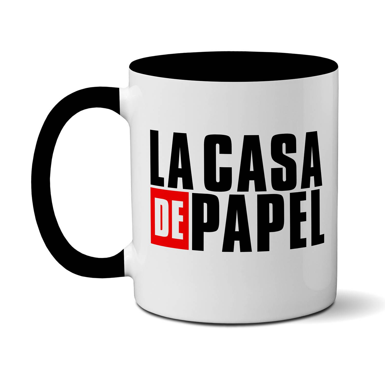 - Caneca La Casa De Papel (preto) - Netflix