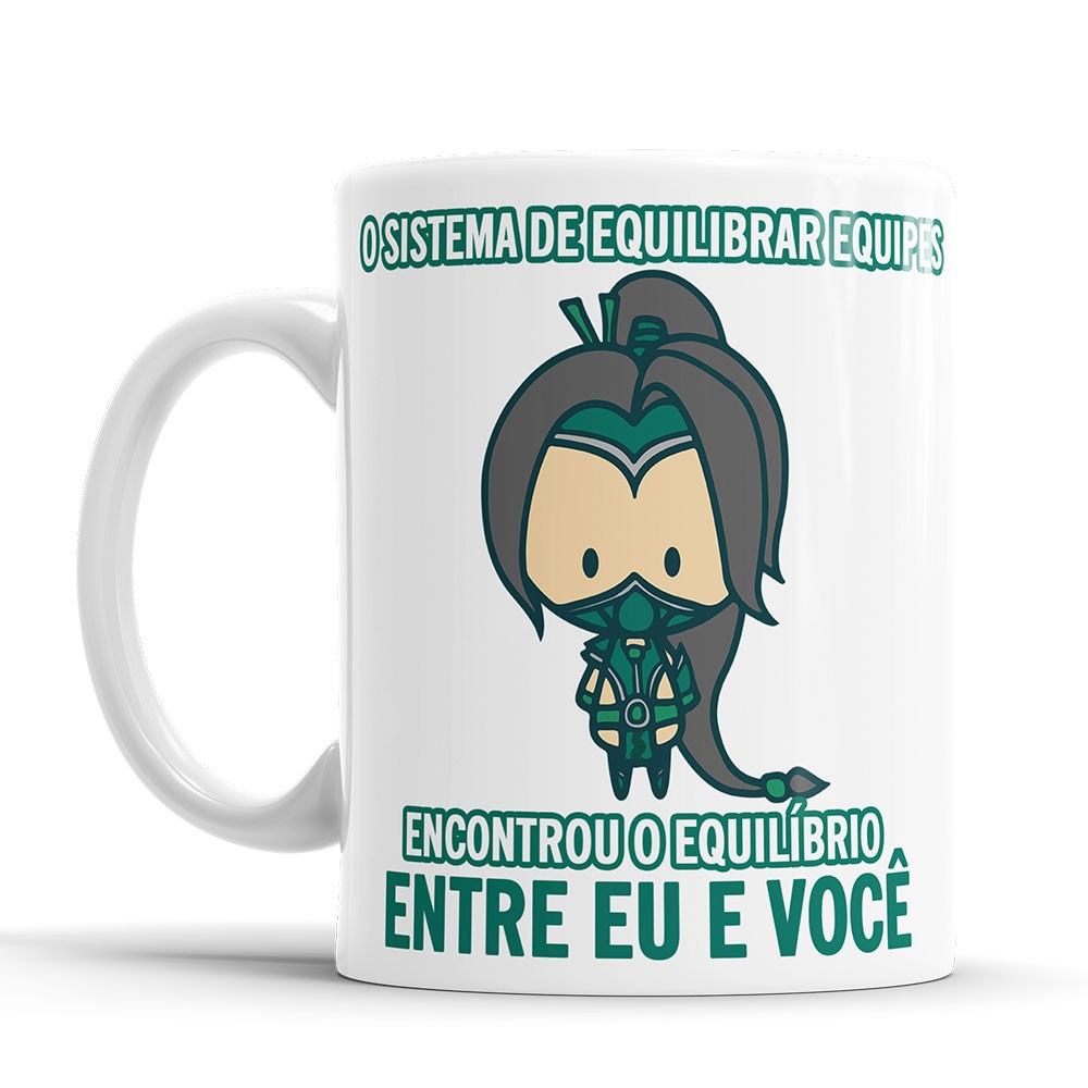 Caneca League of Legends Akali Cantadas Divertidas + saquinho