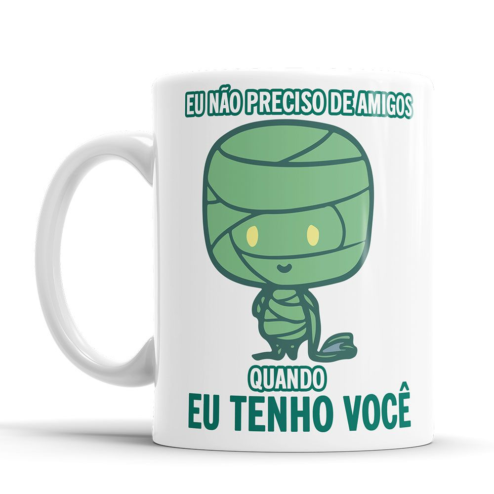 Caneca League of Legends Amumu Cantadas Divertidas Branca