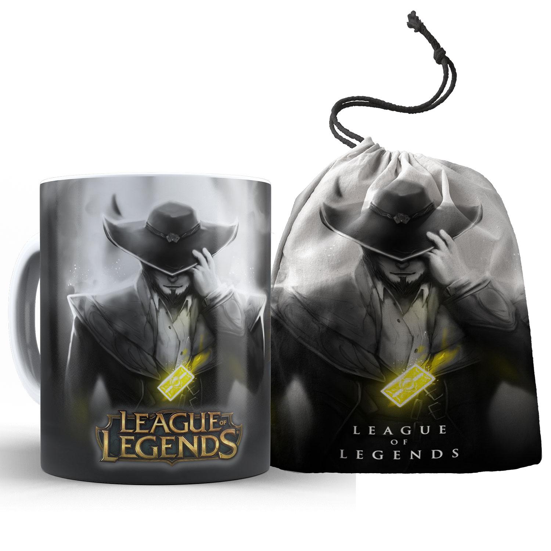Caneca League of Legends - Twisted Fate + saquinho  - ELICOMICS PRODUTOS PERSONALIZADOS