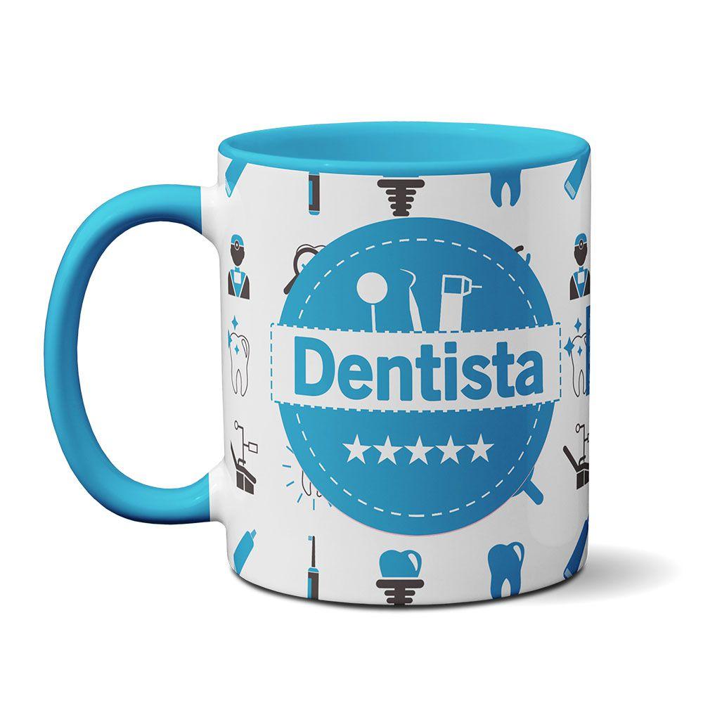 Caneca Personalizada Profissão - Dentista ( Azul )