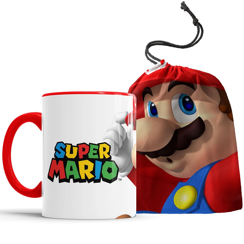 Caneca Personalizada  Super Mário + Saquinho