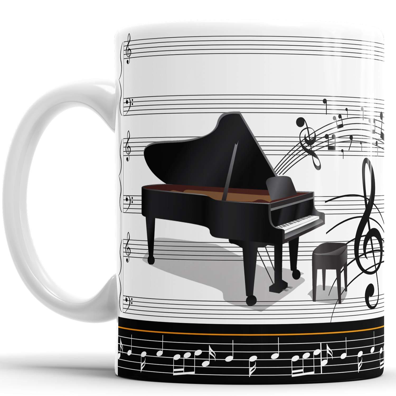 Caneca Piano Pianista Música