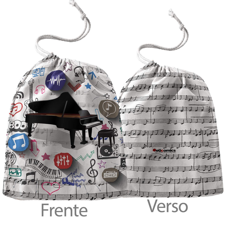 Caneca Piano Pianista Música  com Saquinho  - ELICOMICS PRODUTOS PERSONALIZADOS
