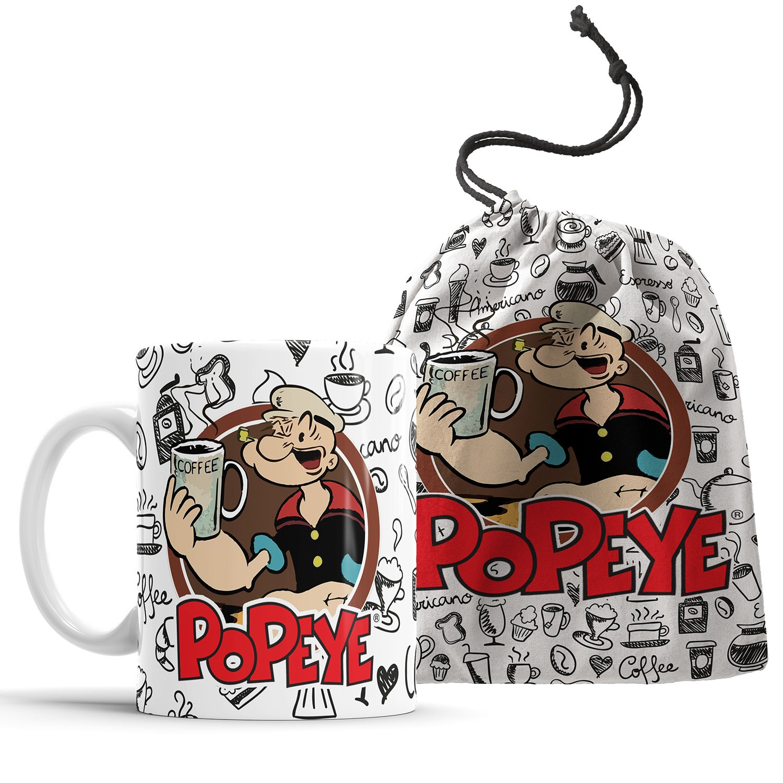Caneca Popeye Café + Saquinho