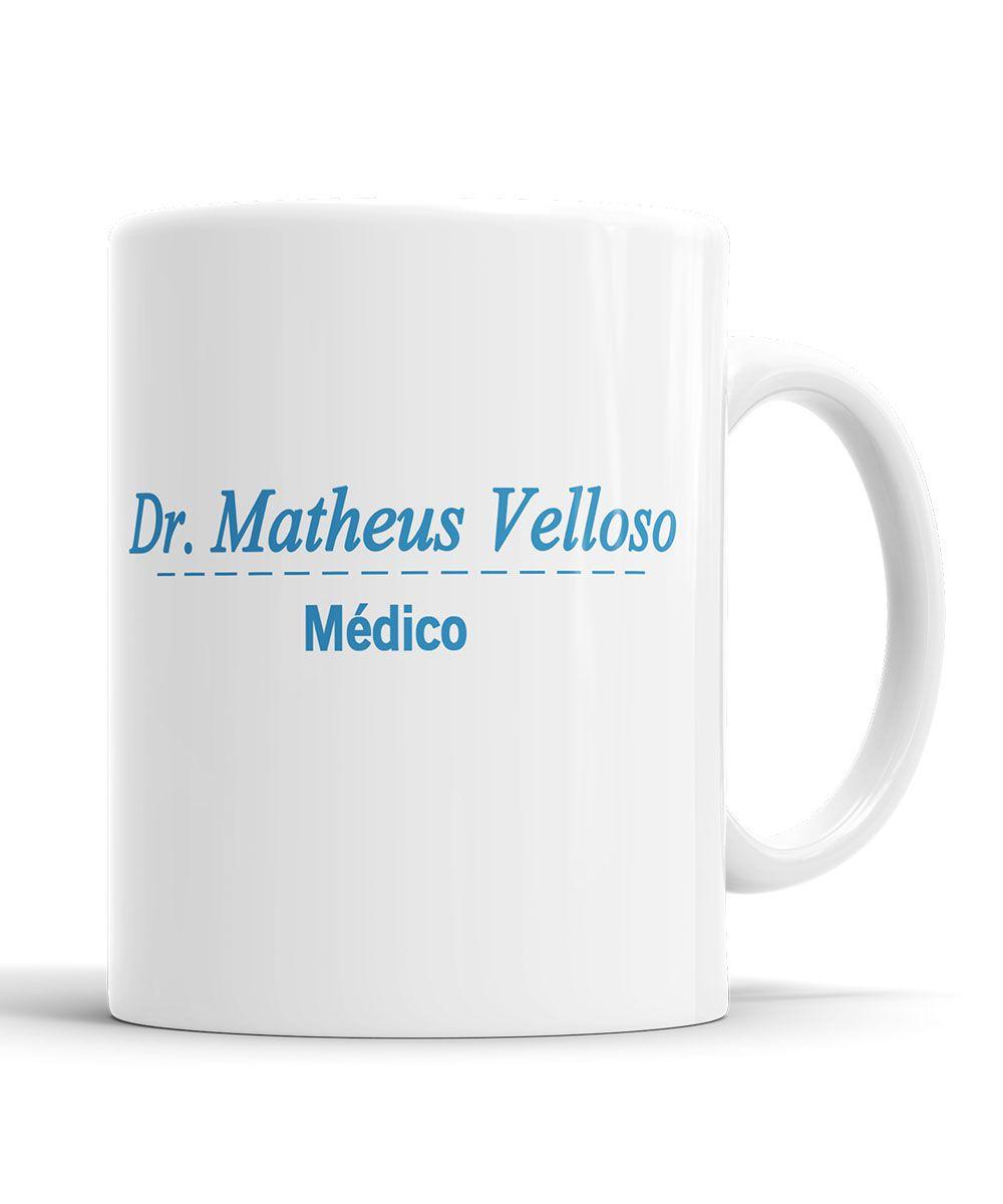 Caneca Profissão Jaleco Medicina com Nome