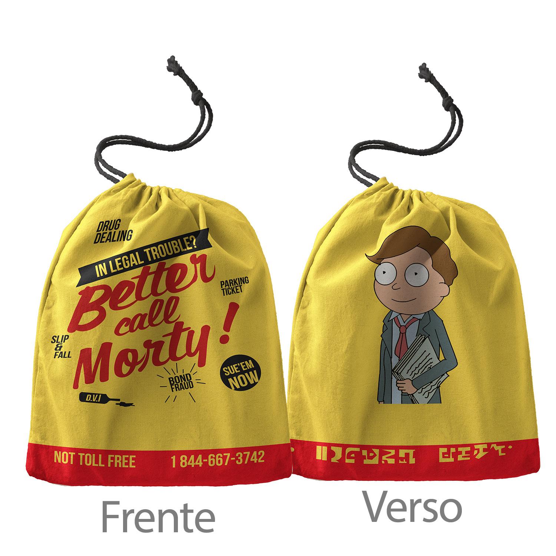 Caneca Rick and Morty Better Call Morty com saquinho