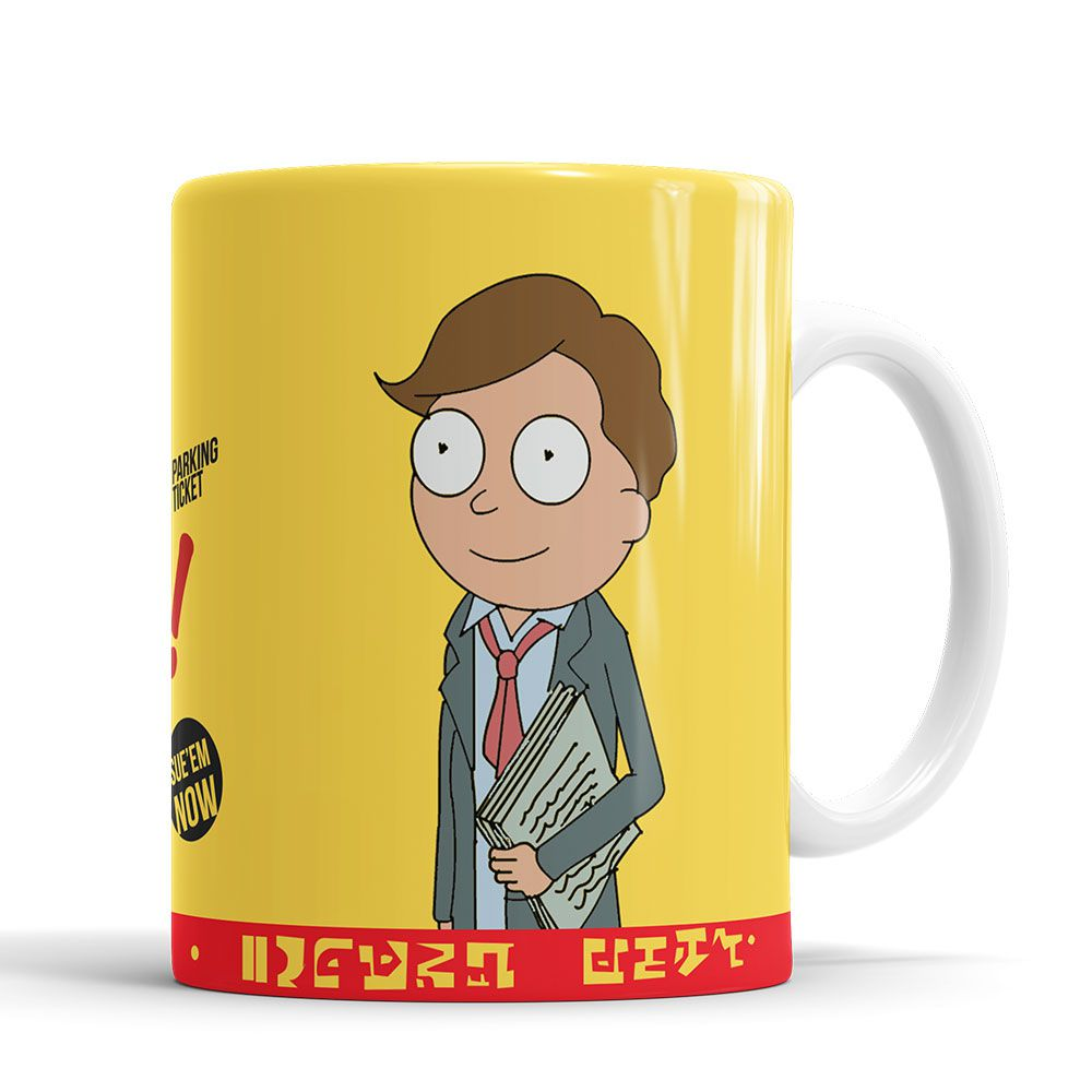 Caneca Rick And Morty + saquinho de tecido