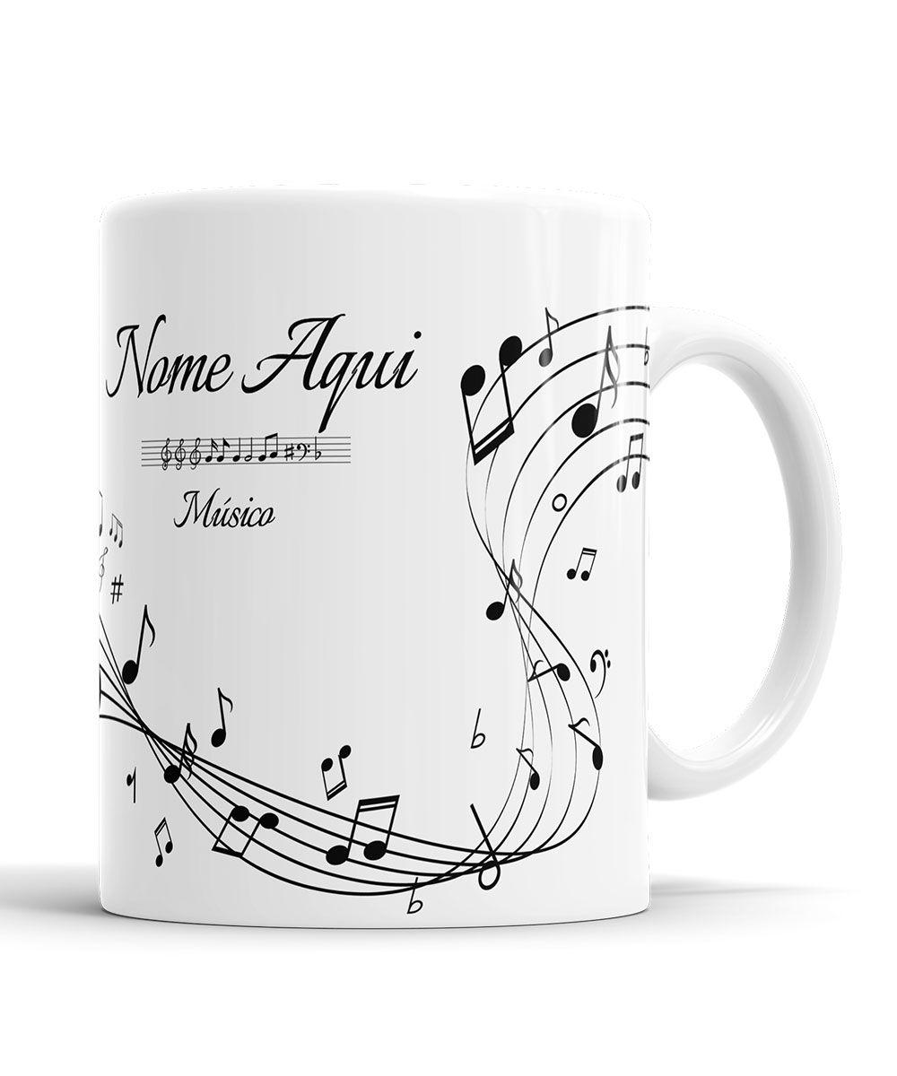Caneca Saxofone Personalizada Musico com Nome
