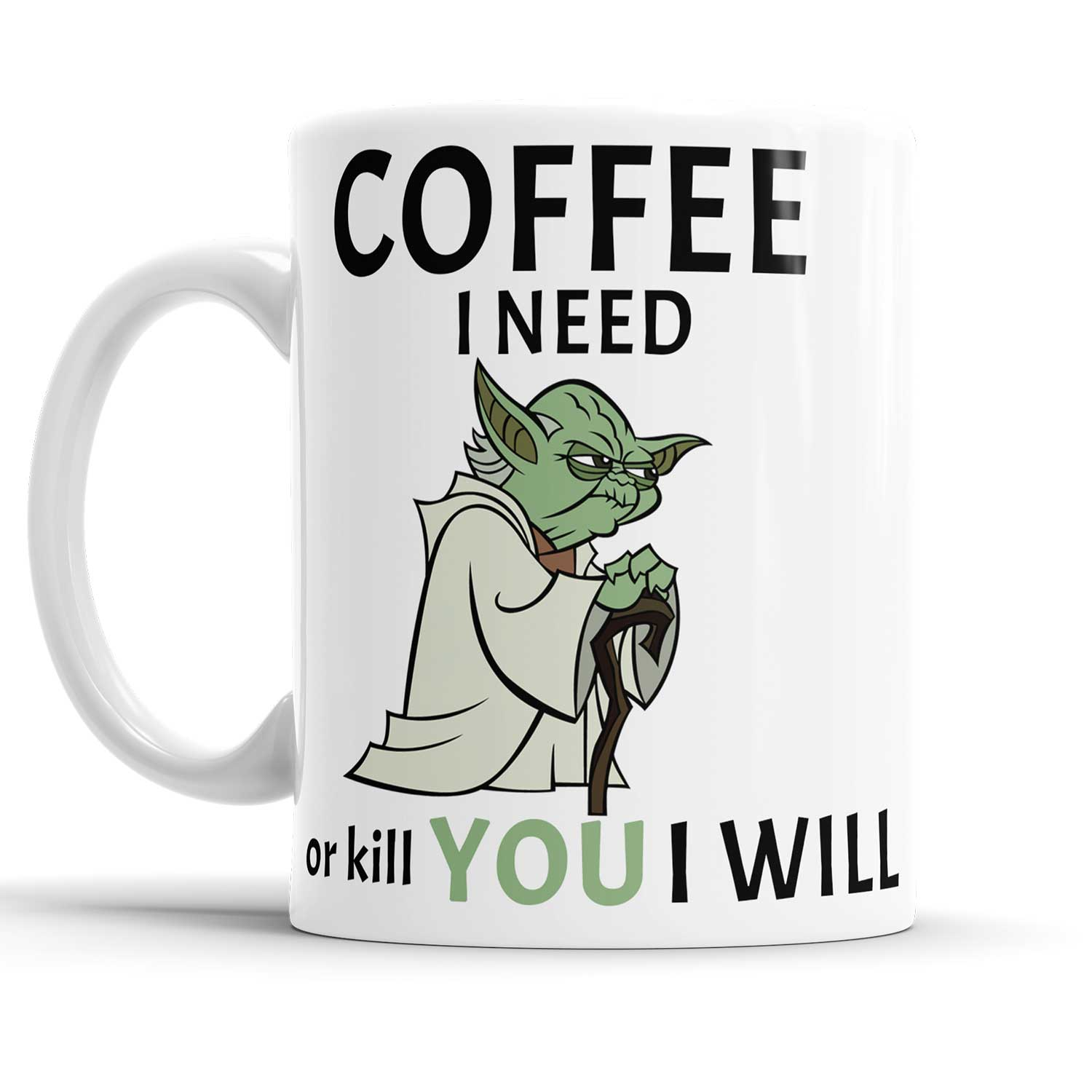 Caneca Star Wars Coffee Yoda