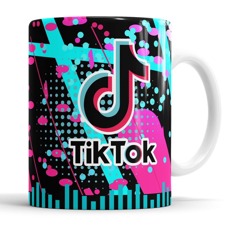 Caneca Tik Tok com saquinho