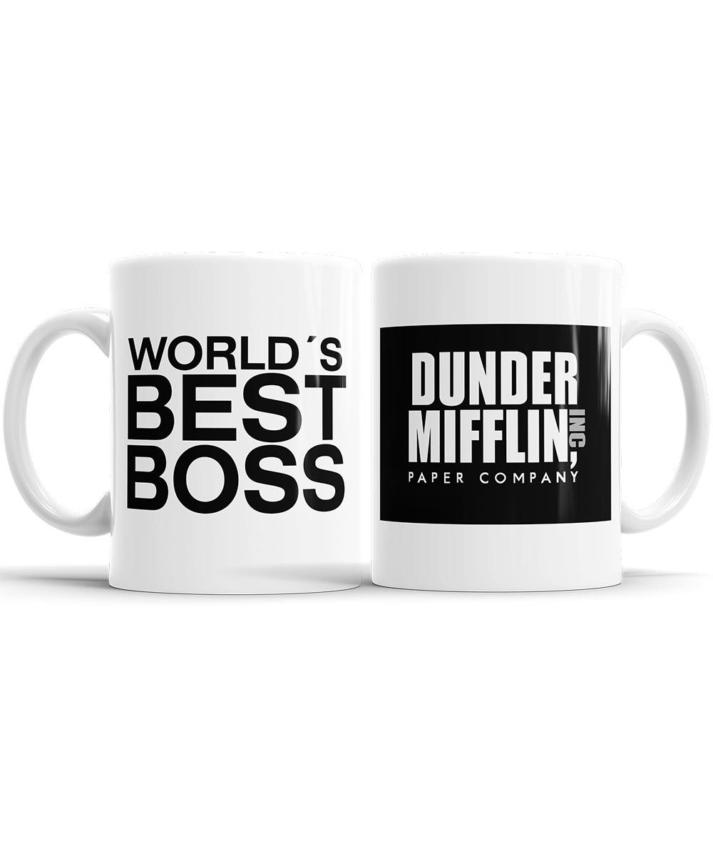 Caneca World´s Best Boss - The Office + Saquinho