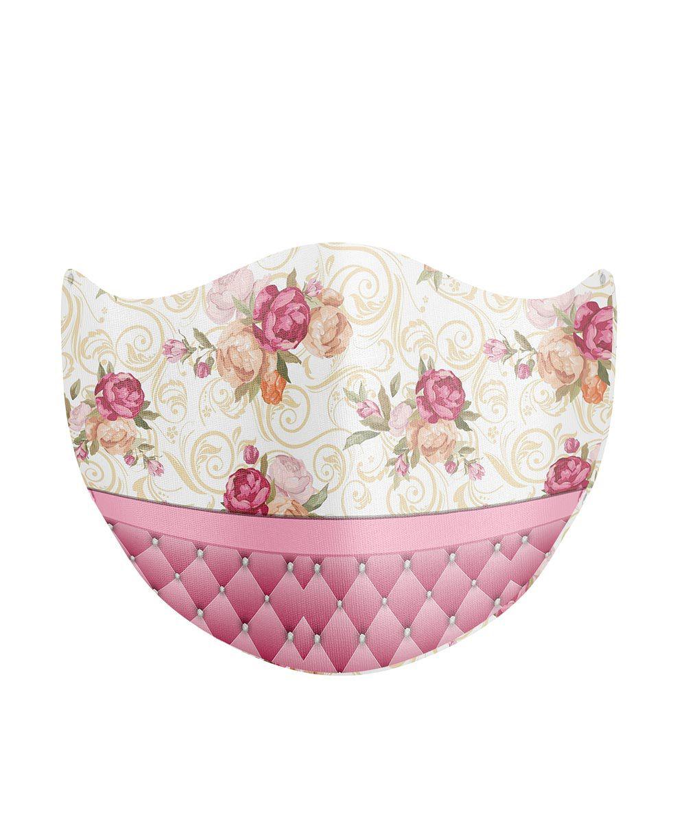 Máscara de Proteção de Tecido Duplo - Flores