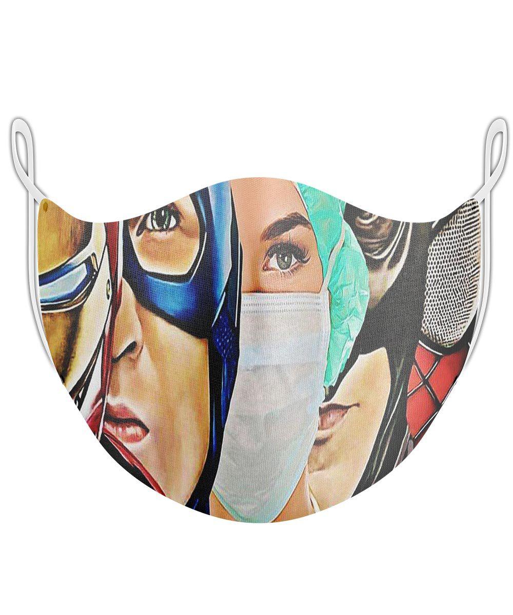 Máscara Proteção Em Tecido Lavável - Herois  - Enfermeira