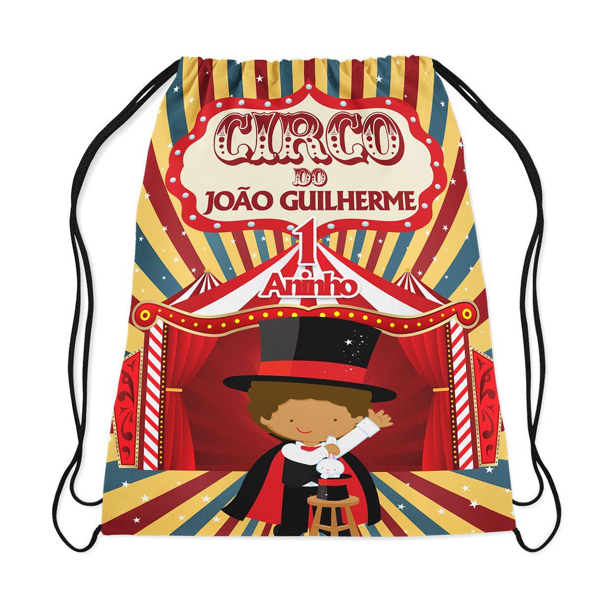 Mochilinha Personalizada Circo