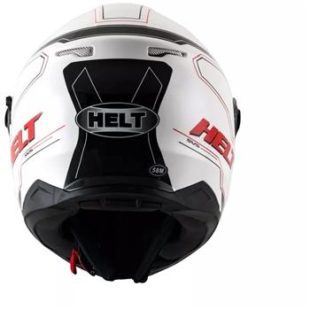 Capacete Helt NEW RACE GLASS BRANCO c oculos