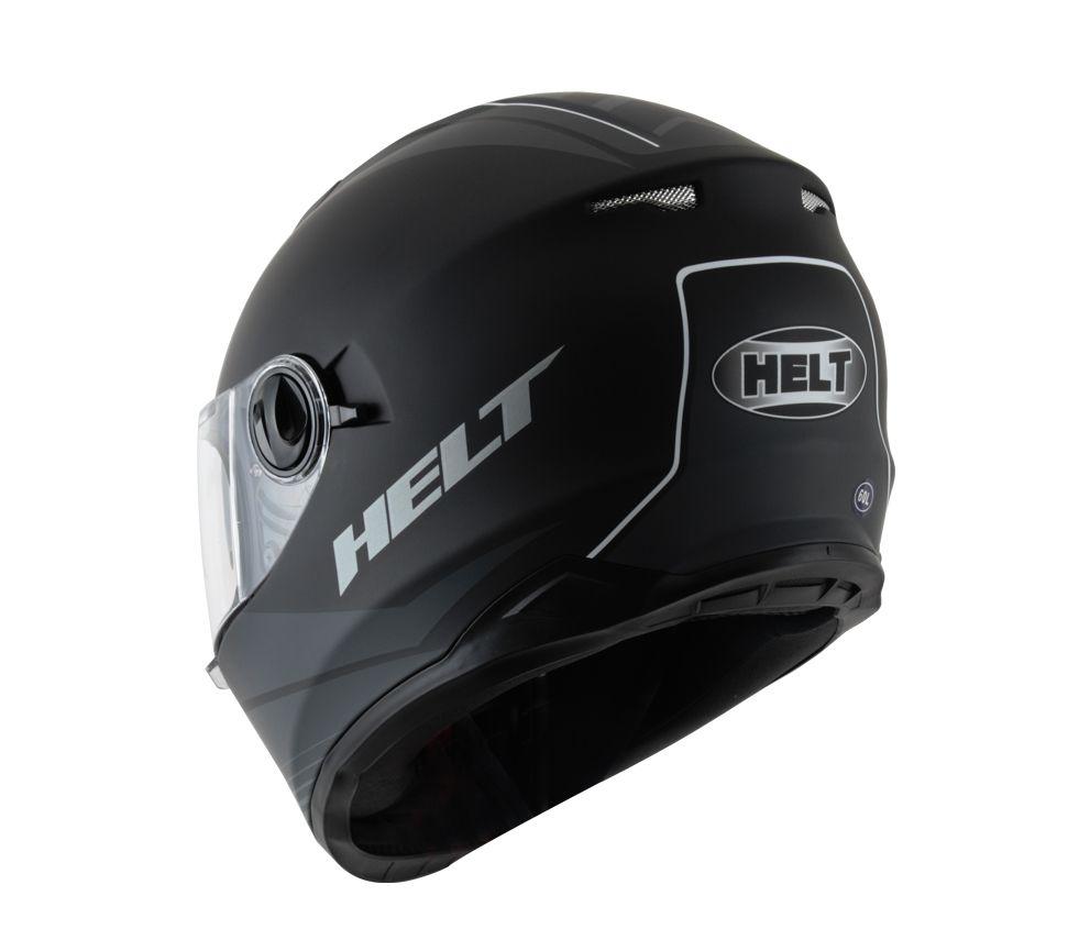 Capacete Helt NEW RACE GLASS ROAD Preto Fosco c Oculos