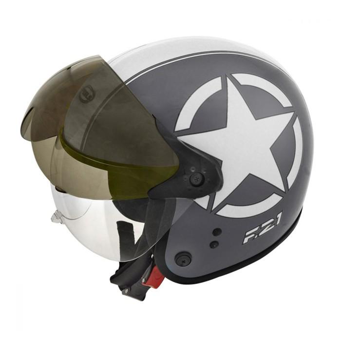 CAPACETE PEELS F-21 US ARMY CHUMBO FOSCO COM BRANCO