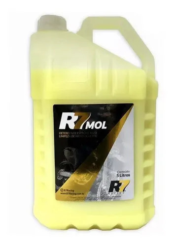 Detergente R7 Mol 5l Para Limpeza De Motocicletas