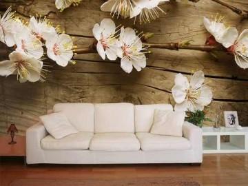 Papel De Parede Para Sala 3d Flores