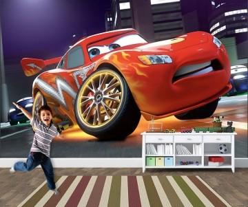 Papel de Parede 3D Carros  0001 - Papel de Parede para Quarto