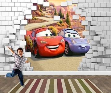 Papel de Parede 3D Carros  0023 - Papel de Parede para Quarto