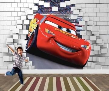 Papel de Parede 3D Carros  0030 - Papel de Parede para Quarto