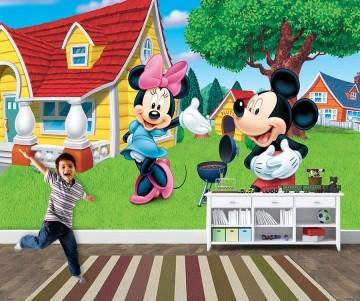 Papel de Parede 3D Mickey 0004 - Papel de Parede para Quarto