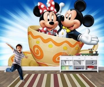 Papel de Parede 3D Mickey 0014 - Papel de Parede para Quarto