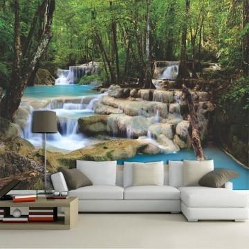 Papel De Parede 3D | Cachoeiras 0003 - papel de parede paisagem