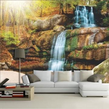 Papel De Parede 3D | Cachoeiras 0004 - papel de parede paisagem