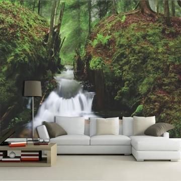 Papel De Parede 3D | Cachoeiras 0006 - papel de parede paisagem