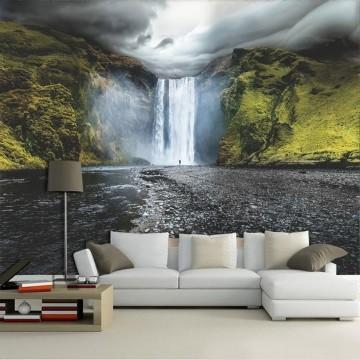 Papel De Parede 3D | Cachoeiras 0008 - papel de parede paisagem