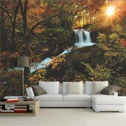 Papel De Parede 3D   Cachoeiras 0009 - papel de parede paisagem