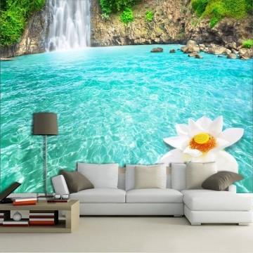 Papel De Parede 3D | Cachoeiras 0015- papel de parede paisagem
