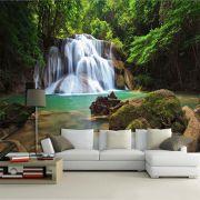 Papel De Parede 3D   Cachoeiras 0021 - papel de parede paisagem