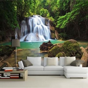 Papel De Parede 3D | Cachoeiras 0021 - papel de parede paisagem