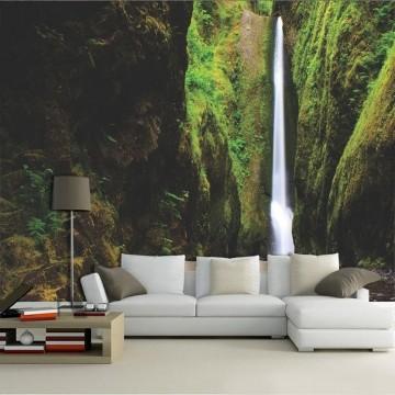 Papel De Parede 3D   Cachoeiras 0022 - papel de parede paisagem