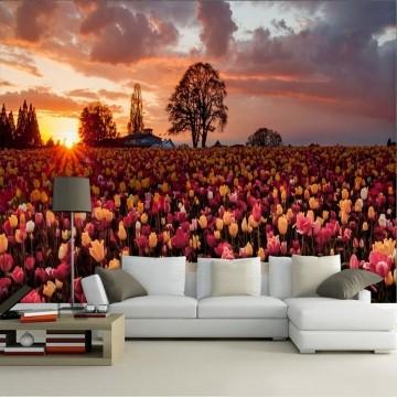 Papel de Parede 3D Campos 0005 - Papel de Parede para Sala