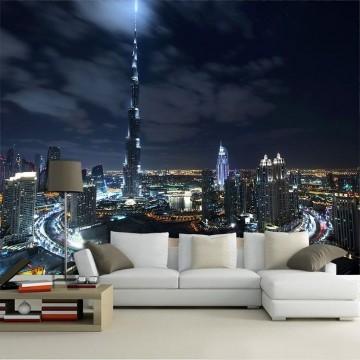 Papel De Parede 3D | Cidades Dubai 0003 - Adesivo de Parede