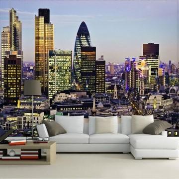 Papel De Parede 3D | Cidades Inglaterra 0001 - Adesivo de Parede