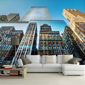 Papel De Parede 3D   Cidades Nova York 0005 - Adesivo de Parede