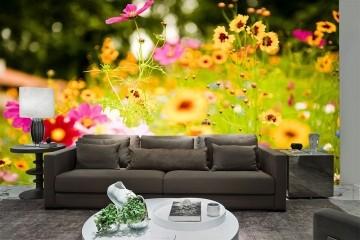 Papel De Parede 3D   Flores 0001 - Papel de Parede para Sala