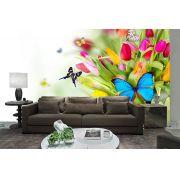 Papel De Parede 3D | Flores 0002 - Adesivo de Parede