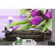 Papel De Parede 3D | Flores 0013 - papel de parede de flores
